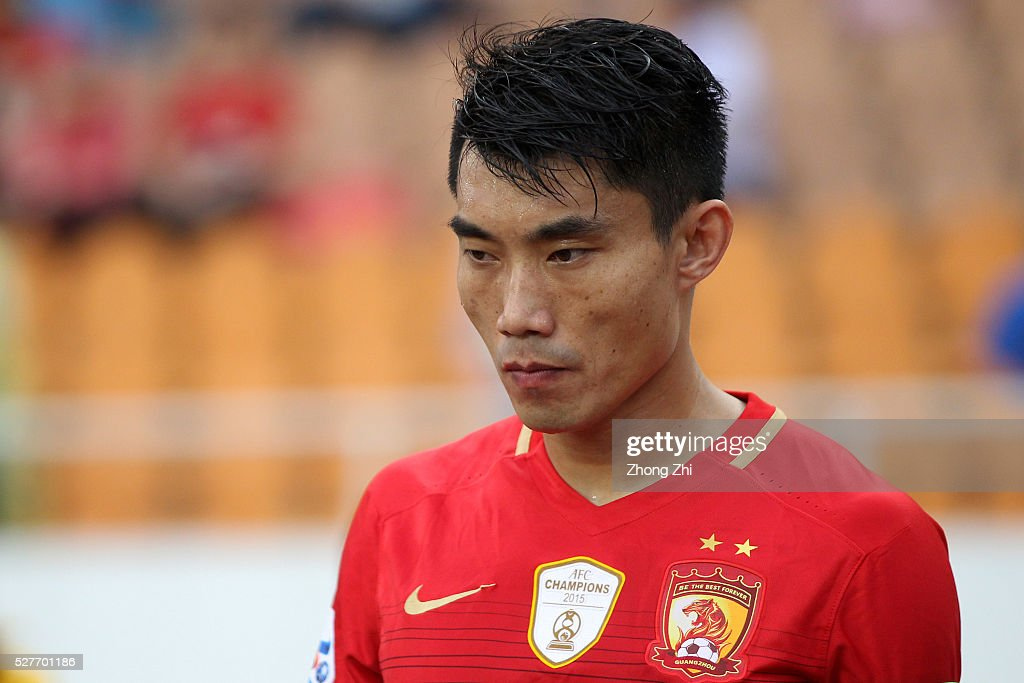 <a gi-track='captionPersonalityLinkClicked' href=/galleries/search?phrase=Zheng+Zhi&family=editorial&specificpeople=587776 ng-click='$event.stopPropagation()'>Zheng Zhi</a> of Guangzhou Evergrande looks on during the AFC Asian Champions League match between Guangzhou Evergrande FC and Sydney FC at Tianhe Stadium on May 3, 2016 in Guangzhou, China.