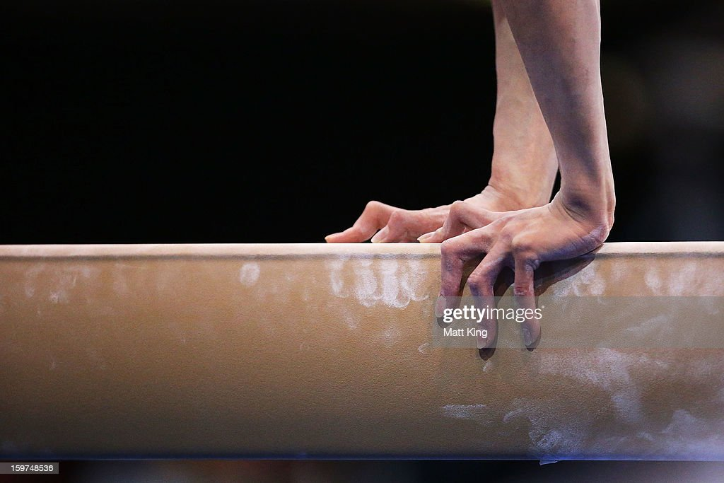 Zhilin Liu of China competes in the Beam during the Women's All Around and Aparatus Final during day five of the Australian Youth Olympic Festival at Sydney Olympic Park Sports Centre on January 20, 2013 in Sydney, Australia.