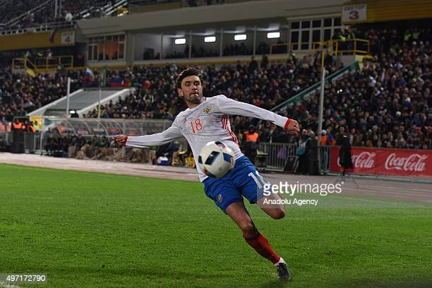 Zhirkov of Russia shoots the ball during the international friendly match between Russia and Portugal at Stadium Kuban in Krasnodar Russia on...