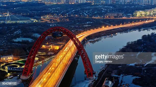 Zhivopisny bridge in Moscow