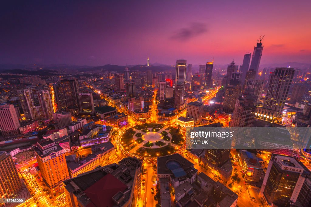 Zhongshan Square at Sunset