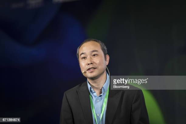 Zhou Daixing chief executive officer of Berry Genomics Co speaks during a session at the China Green Companies Summit in Zhengzhou China on Saturday...