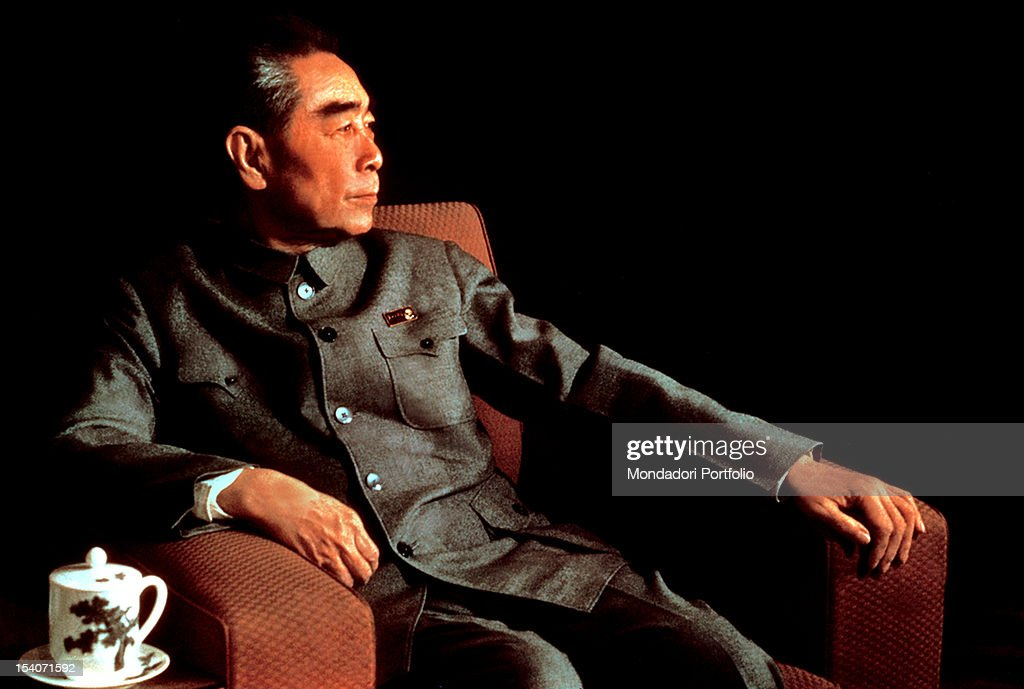 Zhou Enlai the Chinese Communist Party leader and chief of government of the Republic of China sitting on a chair China 1960