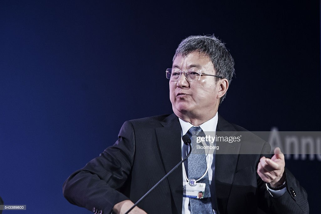 Zhou Min, deputy managing director of the International Monetary Fund (IMF), speaks during a Bloomberg TV debate at the World Economic Forum (WEF) Annual Meeting of the New Champions in Tianjin, China, on Tuesday, June 28, 2016. The meeting runs through June 28. Photographer: Qilai Shen/Bloomberg via Getty Images