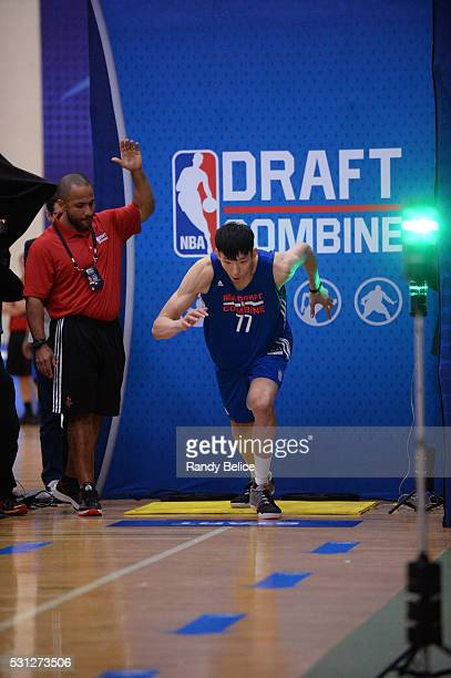 Zhou Qi starts a 3/4 Court Sprint during the 2016 NBA Draft Combine on May 12 2016 at the Quest Multisport in Chicago Illinois NOTE TO USER User...