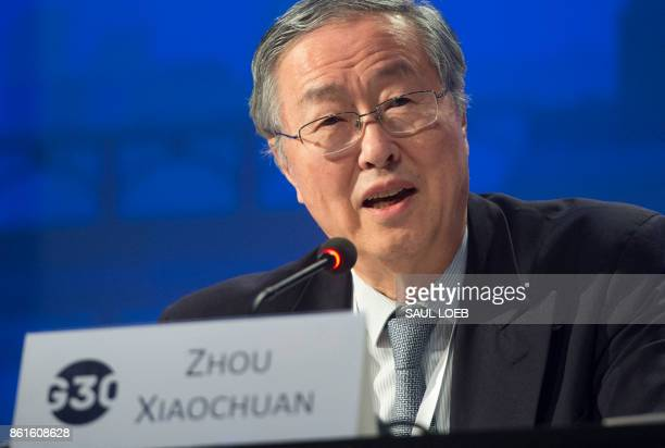 Zhou Xiaochuan Governor of the People's Bank of China speaks during the 32nd Annual Group of 30 International Banking Seminar in Washington DC on...