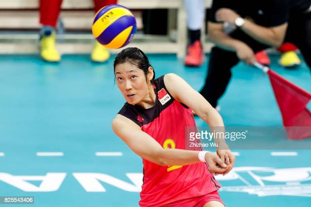 Zhu Ting of China during 2017 Nanjing FIVB World Grand Prix Finals between China and Brazil on August 2 2017 at Nanjing Olympic Sports Center in...