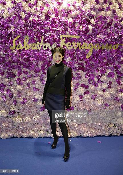 Zhu Zhu attends the L'lcona party at Ozone the RitzCarlton which is part of the celebrations of the opening of Salvator Ferragamo Mandarin Oriental...