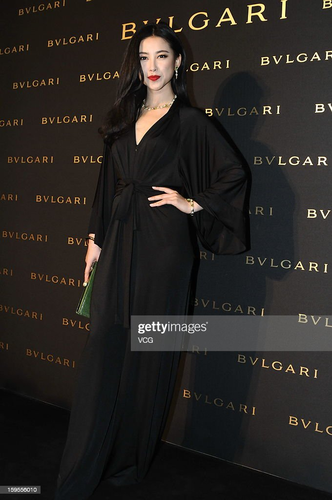 Zhu Zhu attends the opening ceremony of Bvlgari Store on January 15, 2013 in Shanghai, China.