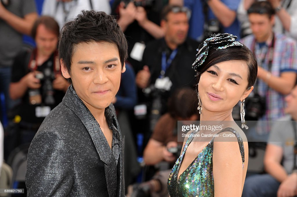 Zi Yi and Li Feier at the Photocall for 'Chongqing Blues' during the 63rd Cannes International Film Festival.