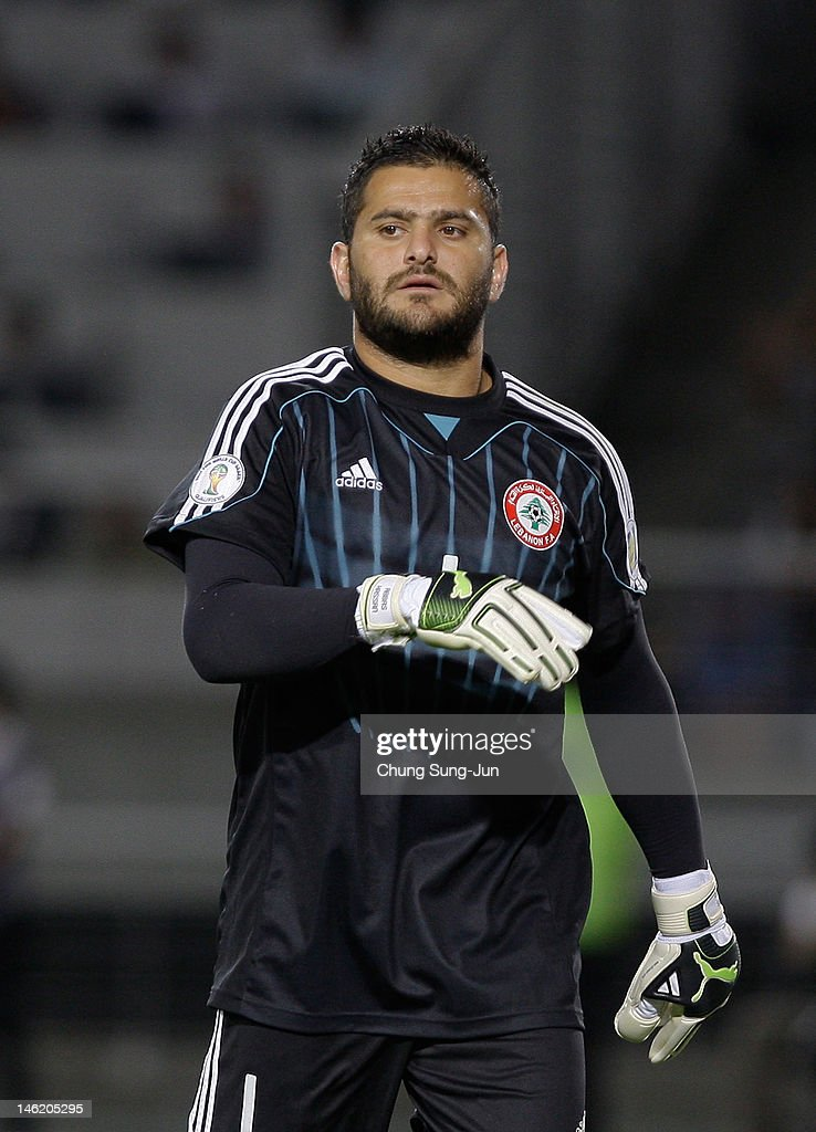 Ziad El Samad of Lebanon reacts during the FIFA World Cup Asian Qualifier match between South Korea and Lebanon at Goyang Stadium on June 12, 2012 in Goyang, South Korea.