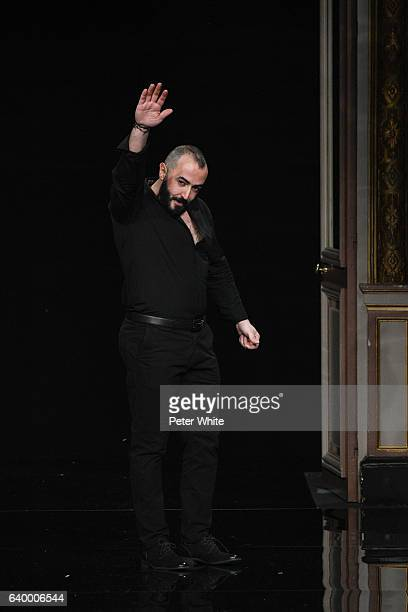 Ziad Nakad walks the runway after the Ziad Nakad Spring Summer 2017 show as part of Paris Fashion Week on January 25 2017 in Paris France
