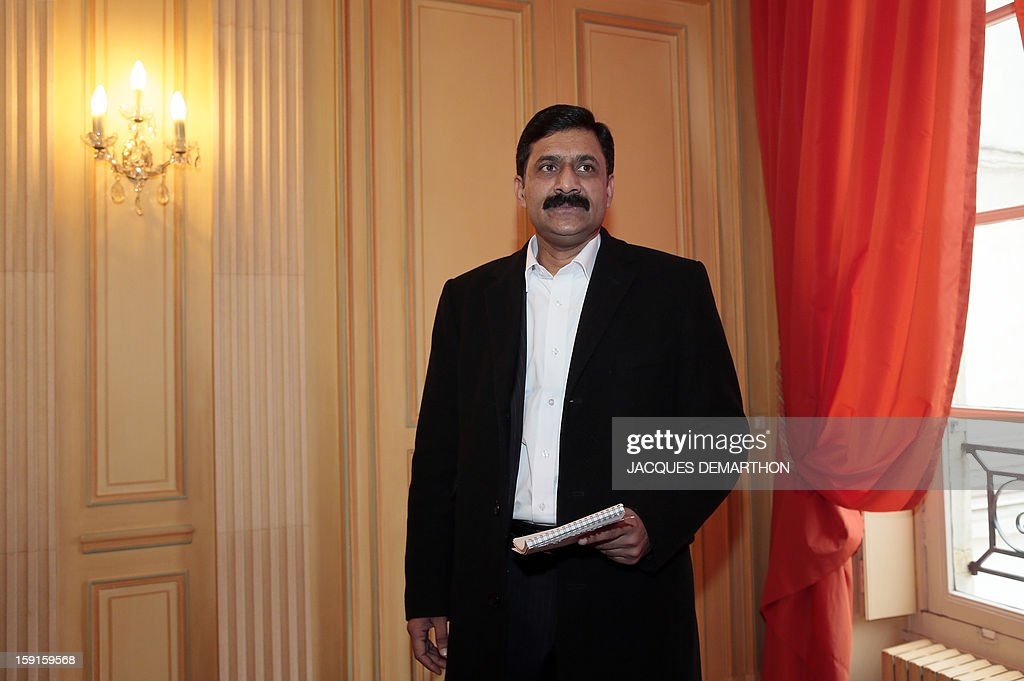 Ziauddin Yousafzai, the father of Malala Yousafzai, the young Pakistani schoolgirl activist who was the victim of an assasination attempt by the Taliban in 2012, looks on during the Simone de Beauvoir awards ceremony in Paris on January 9, 2013. The 2013 Simone de Beauvoir prize for the freedom of women was handed to Malala Yousafzai, who has become a symbol of the struggle for girls' education and women's rights in Pakistan. Malala was flown to the United Kingdom with a life-threatening head wound shortly after her attack but recovered from her injuries and was temporarily discharged on January 4 as she awaits more surgery.