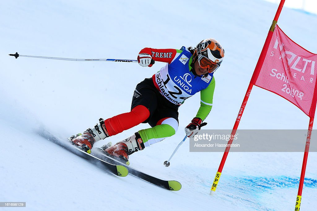 Ziba Kalhor of Iran skis in the Women's Giant Slalom during the Alpine FIS Ski World Championships on February 14, 2013 in Schladming, Austria.