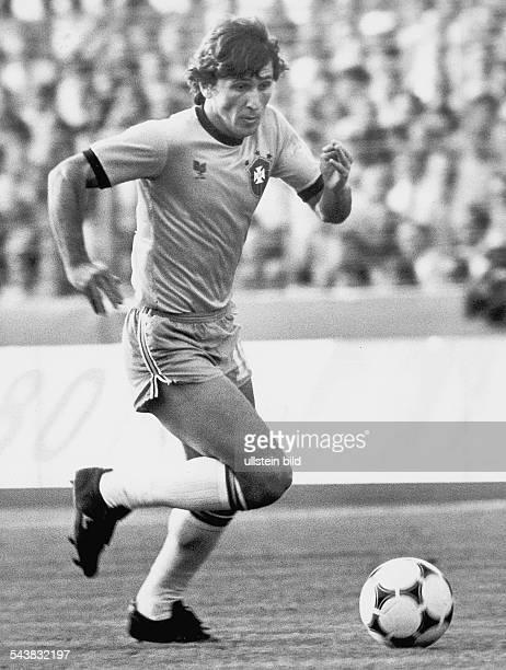 Zico mit bürgerlichem Namen Arthur Antunes Coimbra ist Fußballspieler der brasilianischen Nationalmannschaft Aufgenommen März 1982