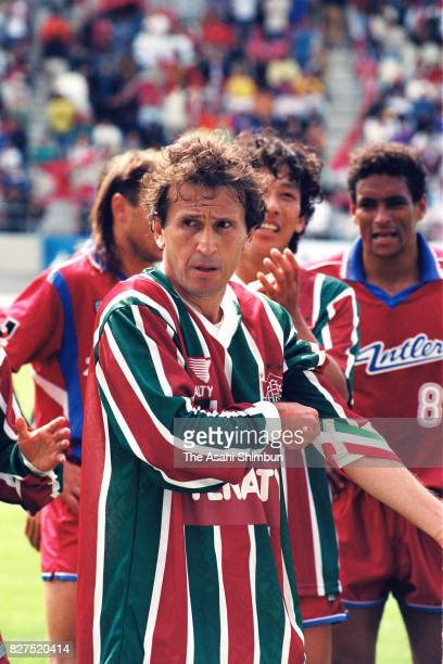 Zico of Kashima Antlers is seen after the preseason friendly match between Kashima Antlers and Fluminense at Kashima Soccer Stadium on May 4 1993 in...
