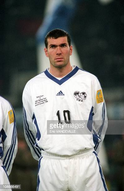 Zidane in Rome Italy on December 16 1998