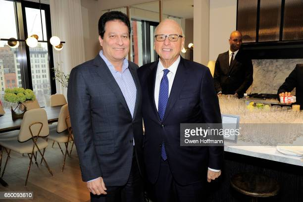 Ziel Feldman and Howard Lorber attend 11 Beach Model Residence Unveiling Event at 11 Beach Street on March 7 2017 in New York City