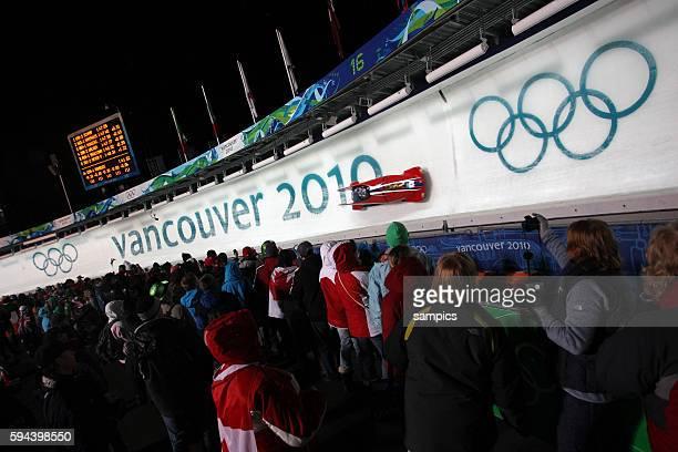 Zielkurve 2 er Bob der Frauen Olympische Winterspiele in Vancouver 2010 Kanada olympic winter games Vancouver 2010 canada