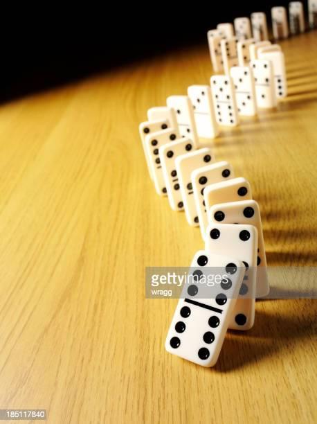 Zig Zag Domino Effect