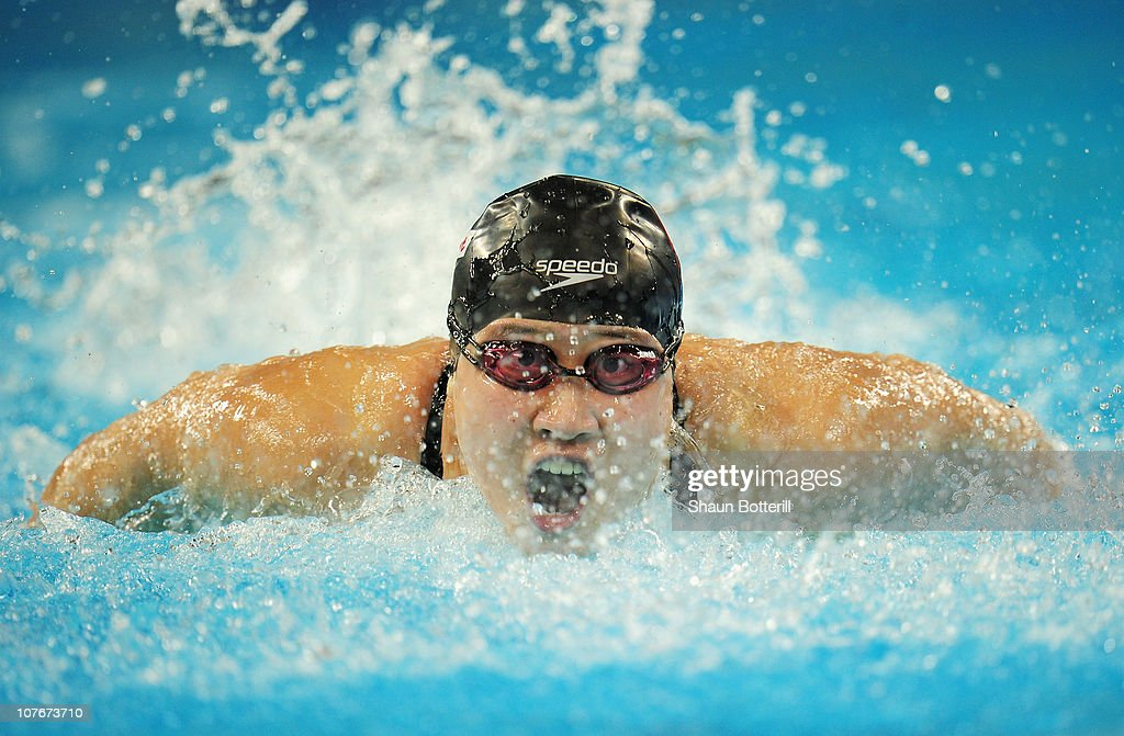 Zige Liu of China competes in the heats of the Women's 100m Butterfly during the 10th FINA World Swimming Championships (25m) at the Hamdan bin Mohammed bin Rashid Sports Complex on December 18, 2010 in Dubai, United Arab Emirates.