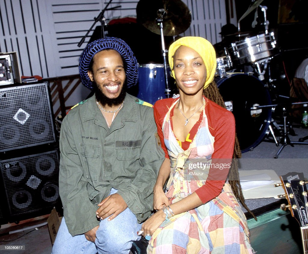 Ziggy Marley and Eryka Badu during TNT Bob Marley All Star Tribute at James Bond Beach in Oracabeca Beach, Jamaica, Jamaica.