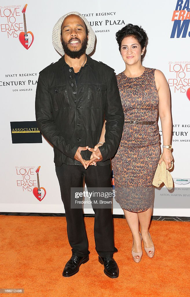 Ziggy Marley (L) and his guest attend the 20th Annual Race to Erase MS Gala 'Love to Erase MS' at the Hyatt Regency Century Plaza on May 3, 2013 in Century City, California.