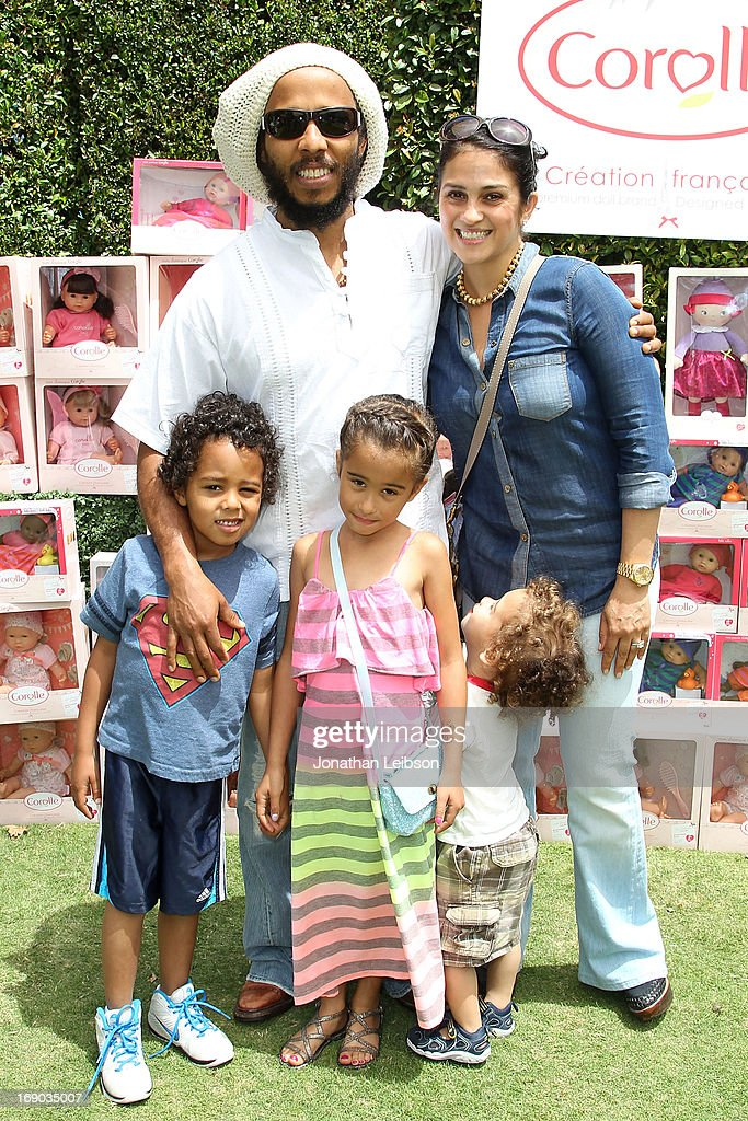<a gi-track='captionPersonalityLinkClicked' href=/galleries/search?phrase=Ziggy+Marley&family=editorial&specificpeople=161393 ng-click='$event.stopPropagation()'>Ziggy Marley</a> and Orly Marley and children attend the Corolle Adopt a Doll Event at The Grove on May 18, 2013 in Los Angeles, California.