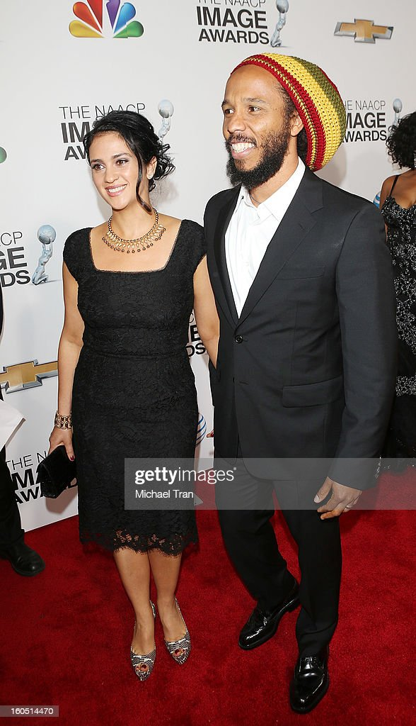 <a gi-track='captionPersonalityLinkClicked' href=/galleries/search?phrase=Ziggy+Marley&family=editorial&specificpeople=161393 ng-click='$event.stopPropagation()'>Ziggy Marley</a> (R)and Orly Marley arrive at the 44th NAACP Image Awards held at The Shrine Auditorium on February 1, 2013 in Los Angeles, California.