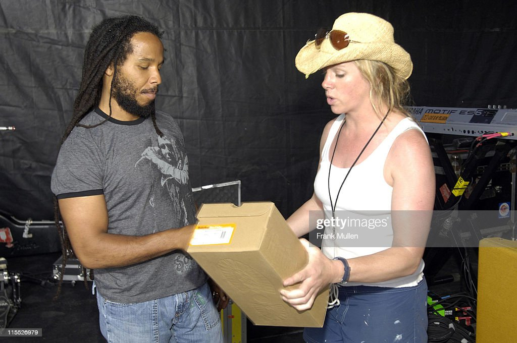 Ziggy Marley and Vanessa LaPointe during Timberland Gift Suite 2007 Day 2 at Artist Hospitality in Manchester Tennessee United States