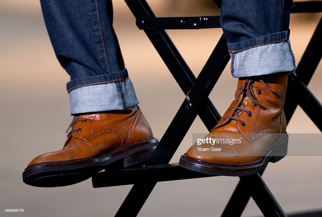 Ziggy Marley (shoe detail) attends AOL's Build Speakers Series: Ziggy Marley on August 1, 2014 in New York, United States.