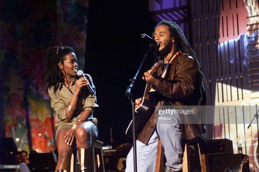 Ziggy Marley & Lauryn Hill during One Love-The Bob Marley Tribute in Oracabessa Beach, Jamaica.