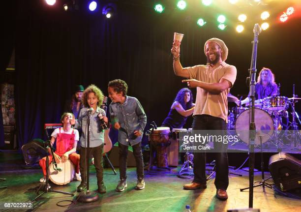 Ziggy Marley performs with his kids during Ben Jerry's One Love Session at The Roxy Theatre on May 22 2017 in West Hollywood California