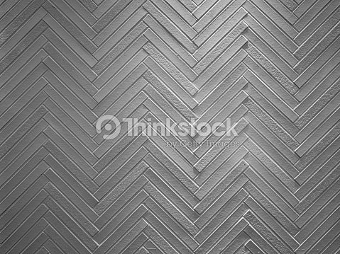 zigzag pattern of decorated concrete wall : Stock Photo