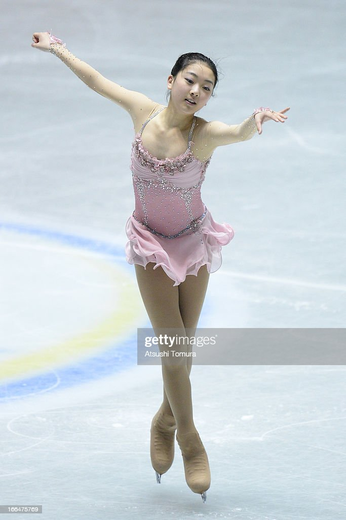 Zijun Li of China compete in the ladies's free skating during day three of the ISU World Team Trophy at Yoyogi National Gymnasium on April 13, 2013 in Tokyo, Japan.