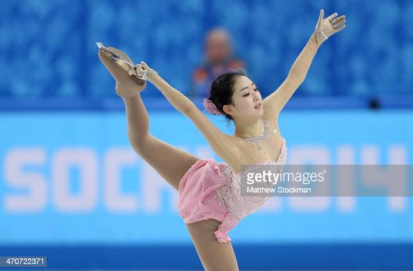 Zijun Li of China competes in the Figure Skating Ladies' Free Skating on day 13 of the Sochi 2014 Winter Olympics at Iceberg Skating Palace on...