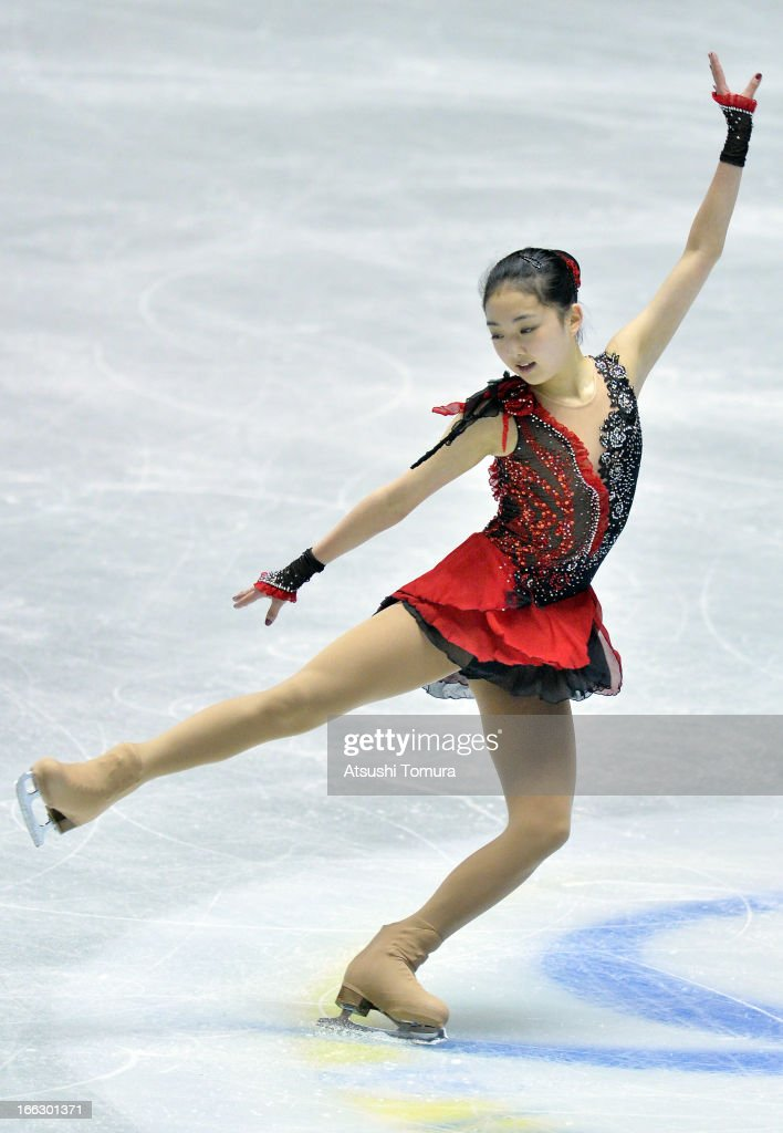 Zijun Li of China competes in the ladies's short program during day one of the ISU World Team Trophy at Yoyogi National Gymnasium on April 11, 2013 in Tokyo, Japan.