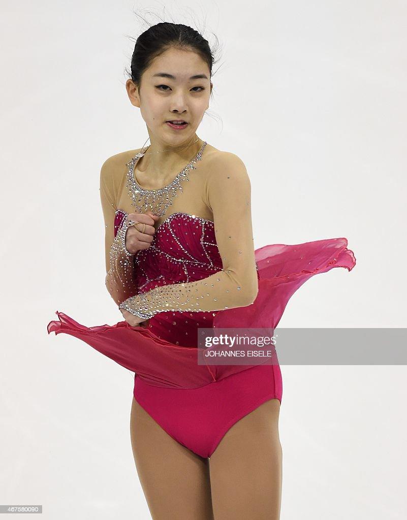 Zijun Li of China performs during her ladies short program of the 2015 ISU World Figure Skating Championships at Shanghai Oriental Sports Center in Shanghai on March 26, 2015.