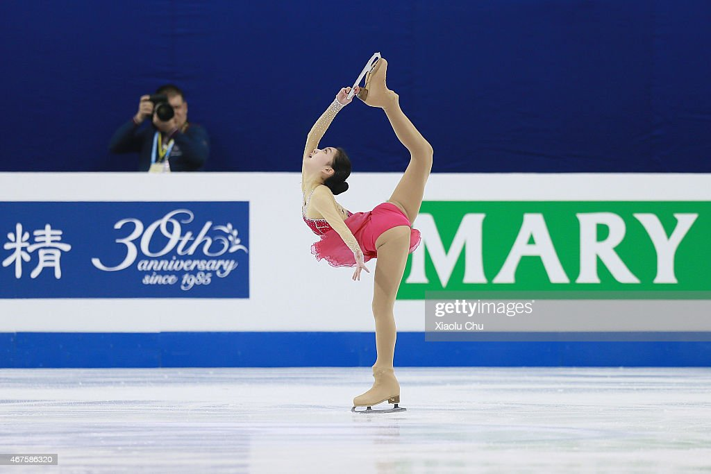 Zijun Li of China performs during the Ladies Short Program on day two of the 2015 ISU World Figure Skating Championships at Shanghai Oriental Sports Center on March 26, 2015 in Shanghai, China.