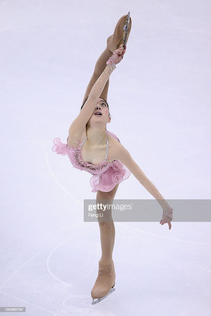 Zijun Li of China skates in Ladies Free Skating during Cup of China ISU Grand Prix of Figure Skating 2012 at the Oriental Sports Center on November 3, 2012 in Shanghai, China.