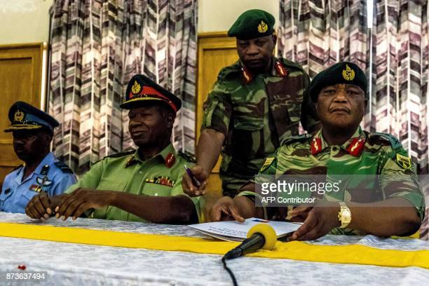 Zimbabwe Army General Constantino Chiwenga Commander of the Zimbabwe Defence Forces and Valerio Sibanda Commander of the Zimbabwe National Army...