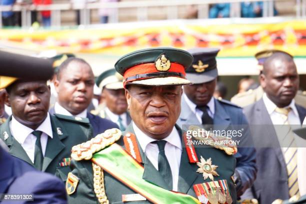 Zimbabwean Army Chief of Staff General Constantino Chiwenga walks during the Inauguration ceremony of the newly swornin President at the National...