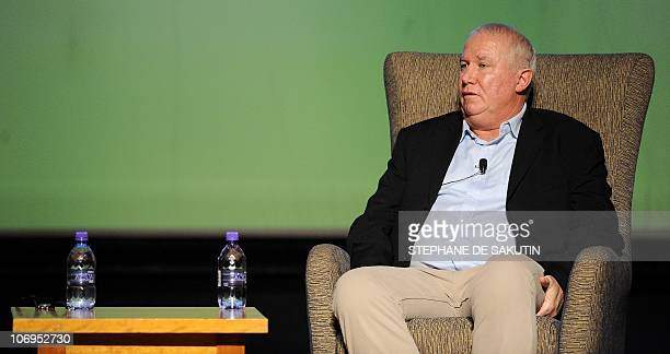 Zimbabwean politician Roy Bennett participates in a talk with Peter Godwin author of a new book critical of longtime Zimbabwean President Robert...