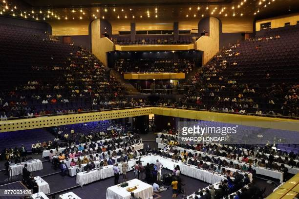Zimbabwean Senators and Members of Parliament gather on November 21 for the general session of parliament and senate at the Rainbow Tower Conference...