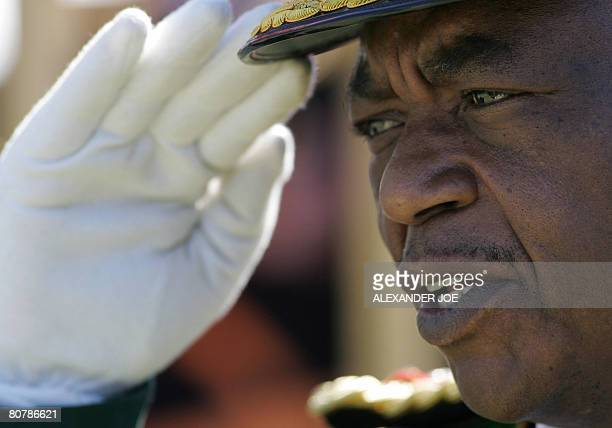 Zimbabwe's Army Commander General Constantine Chiwenga is pictured during the countries 28 years Independence celebration in Harare on April 18 2008...