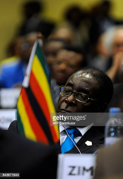 Zimbabwe's President Robert Mugabe attends the opening ceremony of the 16th Ordinary Summit of the African Union in Addis Ababa Ethiopia on January...