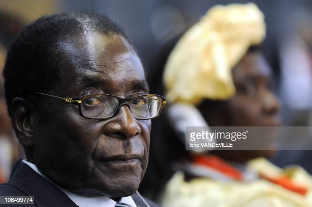 Zimbabwe's President Robert Mugabe UN crisis summit on rising food prices at the Food and Agriculture Organisation in Rome World leaders kicked off...