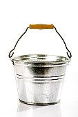 Zinc bucket, close-up