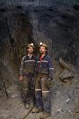 zinc miners in cavern, portrait