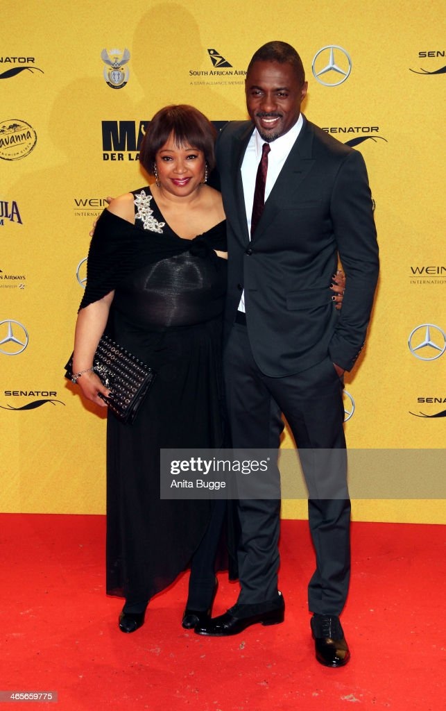 <a gi-track='captionPersonalityLinkClicked' href=/galleries/search?phrase=Zindzi+Mandela&family=editorial&specificpeople=4650558 ng-click='$event.stopPropagation()'>Zindzi Mandela</a> and actor <a gi-track='captionPersonalityLinkClicked' href=/galleries/search?phrase=Idris+Elba&family=editorial&specificpeople=215443 ng-click='$event.stopPropagation()'>Idris Elba</a> attends the premiere of the film 'Mandela: Long Walk to Freedom' (Mandela: Der lange Weg zur Freiheit) at Zoo Palast on January 28, 2014 in Berlin, Germany.